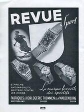 1940 Thommen SA Revue Sport Watch Advert Publicite Suisse Montres Swiss Print Ad