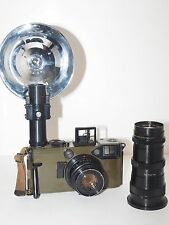 "Graflex 70mm US Army Combat-70 Graphic KE-4. Good outfit with case and 8"" lens."