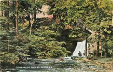 Two Men Sit by the Falls, Tiffany Falls at Forest Hill, Newark NJ 1909