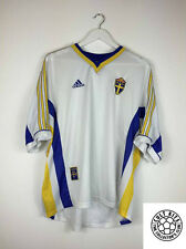 Retro SWEDEN 98/00 Away Football Shirt (XL) Soccer Jersey Adidas