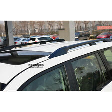 Top Roof Rails Rack Luggage Carrier Bars Black For Toyota Prado FJ120 2003-2009