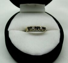 A Very Nice 9ct Gold Sapphire And Diamond Half Eternity Style Ring