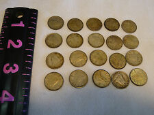 LOT OF 20  CANADIAN SILVER DIMES COINS