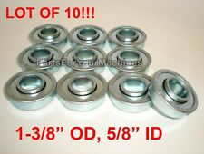 "10 FLANGED BEARINGS 1-3/8"" OD, 5/8"" ID, GO KARTS, 4X4, CARTS, SHELVES,LAWNMOWERS"
