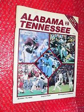 Alabama vs. Tennessee Program October 19, 1985