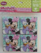 Party Favors DISNEY MINNIE MOUSE 100 Sticker Boxes Birthday Loot Bag Filler 4 Pk