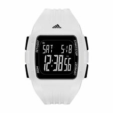 Adidas ADP3260 Performance Black Dial Digital White Silicone Band Sport Watch