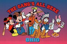 """Mickey, Minnie and """"The Gang's All Here"""" in Ohio --- Walt Disney Postcard"""