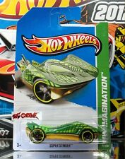 Hot Wheels 2013 #71 Super Stinger™ DARK GREEN,YELLOW RIMS,BLACK OH5SP,2ND COLOR