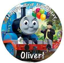 Thomas The Tank Engine Cake Topper Personalised  Edible Wafer Paper 7.5""