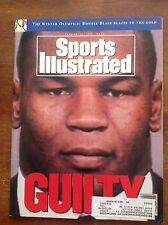 February 17 1992 Mike Tyson Guilty Boxing Sports Illustrated Magazine Vintage