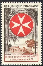 France 1956 Leprosy/Medical/Health/Welfare/Leper Colony/Palm Trees 1v (n42808)