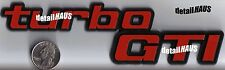 RED TURBO GTI BADGE EMBLEM - VW GTI VOLKSWAGEN GOLF GOL RABBIT GT - FREE SHIP