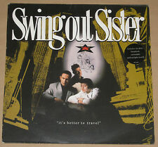 SWING OUT SISTER LP IT'S BETTER TO TRAVEL +INNER VG+ 1987 OUTLP1