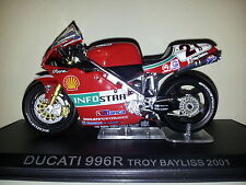 Ixo 1:24 Motorbike Ducati 996R Troy Bayliss 2001 - Rare