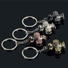 1X Spiral Wing Aircraft Key Chain Vintage Airplane Model Alloy Key Ring Fob Gift