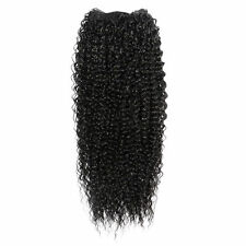 "Kinky Curly Afro Hair Extensions Weave On Weft - 22"" Inch color #1B Off Black"