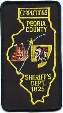 PEORIA COUNTY ILLINOIS IL state outline DOC CORRECTIONS SHERIFF POLICE PATCH