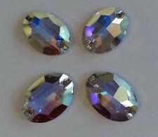 SWAROVSKI 3210 Sew On FlatBack OVAL Crystal AB 24x17mm