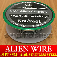 316L ALIEN WIRE - 15 ft / 5m Premium Stainless Steel SS Spool Reel Coil