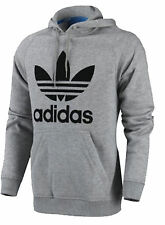Adidas Originals Mens Trefoil Fleece Hooded Sweatshirt Hoodie Size S-M-L-XL