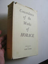 Ancient History Rome Roman Concordance Works of Horace Literature Classics 1961