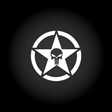 The Punisher Star Auto Aufkleber Sticker Decal JDM Totenkopf Skull 9,0 x 9,0 cm