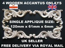 4 CORNER SHABBY CHIC APPLIQUES WOODEN DECORATIVE FURNITURE  MOULDING ONLAY DOOR