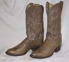 Tony Lama Lizard Skin 9D Medium Brown Taupe Cowboy WesternRopers Boot- Nice!