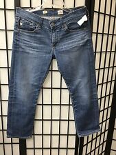 AG Adriano Goldschmied Tomboy Crop Relaxed Straight Jeans 10 Year   Size 28