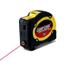 Laser Level pro 25' Horizontal Vertical Laser Beam Line Ruler Tape Measure 7.5m
