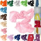 Womens Long Big Crinkle Voile Soft Scarf Wrap Shawl Stole Candy 21 Colors Vogue.