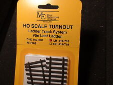 Micro- Engineering #14-718 HO LADDER TRACK SYSTEM TURNOUT LH #5e Code 83