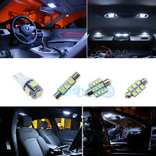 8x White LED Interior Bulb+Reverse+License Plate Lights For Jeep Wrangler JK *P