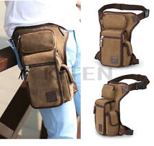 Canvas Travel Hiking Motorcycle Riding Fanny Pack Waist Thigh Drop Leg Bag New