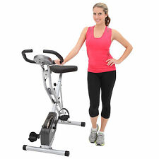 NEW Exerpeutic Folding Magnetic Upright Exercise Bike with Pulse Monitor