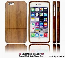 IPHONE 6/6S REAL WOOD CASE HAND MADE 100% GENUINE WALNUT WOOD PROTECTIVE COVER