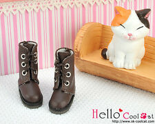 ☆╮Cool Cat╭☆【04-04】Blythe Pullip Doll Shoes Boots # Deep Brown