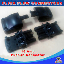 10 x Click Fast Flow 3 Pin Push In Connector Pull Apart 16 Amp 3 Pole Flow