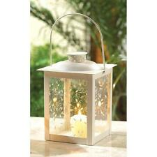 10 LARGE WHITE CANDLE LANTERN WEDDING TABLE CENTERPIECES~37441