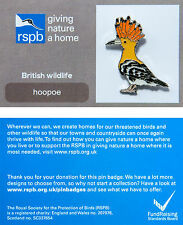 RSPB Pin Badge | Hoopoe | GNaH backing card [00284]