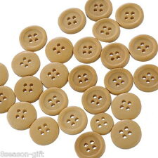 150 Natural 4 Holes Wood Sewing Buttons Scrapbooking
