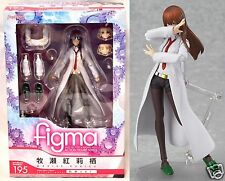 New Figma Kurisu Makise White Coat Ver 195 Steins Gate Max Factory Action Figure