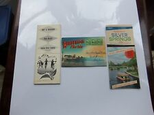 THREE PC. LOT 1949 FLORIDA MAPS, BROCHURES, AND POST CARD ALBUM.