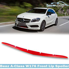 Painted Mercedes BENZ A-Class W176 5D Hatchback #Red Metal Front Lip Spoiler