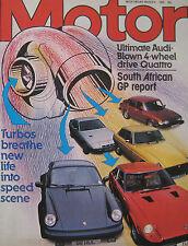 Motor magazine 8/3/1980 featuring Ford Fiesta road test, Audi Quattro cutaway