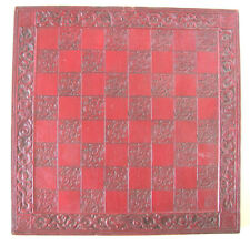 Vintage ~ Asian or Aztec Type Chess Board Hand Carved