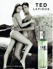 PUBLICITE ADVERTISING 126  1999  eau toilette homme & femme Ted Lapidus nus