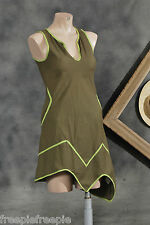 Robe asymétrique marron COLINE taille 38 S  ref 0515406