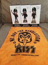 LA KISS Gene Simmons Paul Stanley Thayer Bobblehead Lot & SGA Rally Towel AFL